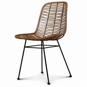 Chaise Rotin Metal : chaise design metal et rotin malaka demeure et jardin ~ Teatrodelosmanantiales.com Idées de Décoration