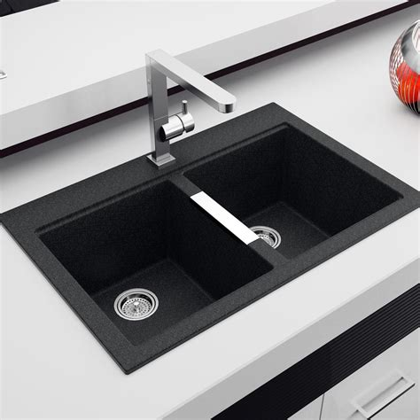 undermount sink granite sink bowls black plumbing artika