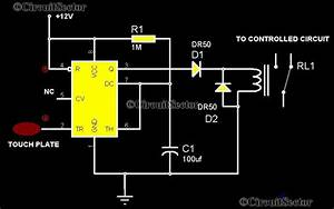 Touch Control Switch Using 555