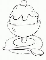 Ice Cream Coloring Pages Icecream Scoop Printable Spoon Bowl Drawing Sunday Cone Getcolorings Getdrawings Fun источник Olphreunion Popular sketch template