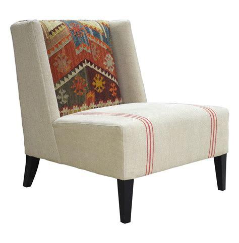 chenla modern rustic kilim stripe accent chair