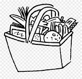 Pantry Basket Drawing Coloring Clipart Pinclipart Report sketch template
