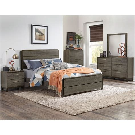 Rc Willey Bedroom Furniture by Gray Black Contemporary 4 King Bedroom Set Oxon