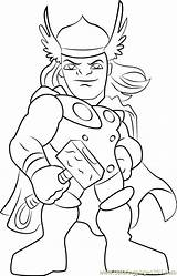 Thor Coloring Pages Super Hero Squad Cartoon Pdf Coloringpages101 sketch template