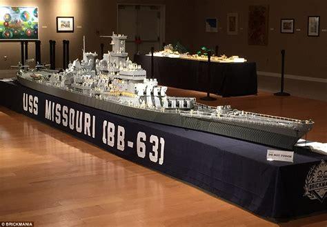 Man Building 'world's Biggest' Lego Model Of Uss Missouri