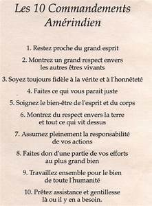 Les 7 Principes Et Les 10 Commandements Am U00e9rindiens