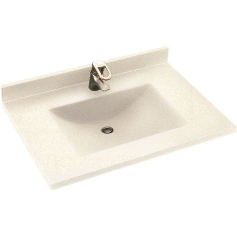 cleaning kitchen sink swan contour 37 in w x 22 in d solid surface vanity top 2237