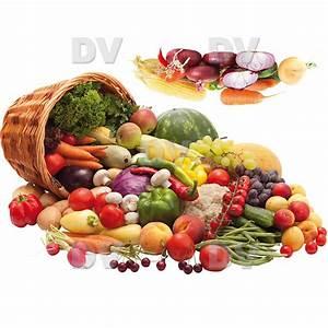 Panier A Fruit : fl20 fruits and vegetables basket sticker deco vitres window ~ Teatrodelosmanantiales.com Idées de Décoration