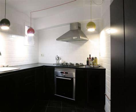 muebles de cocina  encimera lacados en negro
