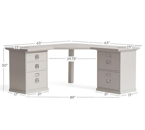 Pottery Barn Bedford Corner Desk Dimensions by Bedford Corner Desk Pottery Barn