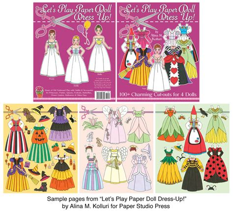 Let's Play Paper Doll Dress Up! [tons Of Cutouts For 4