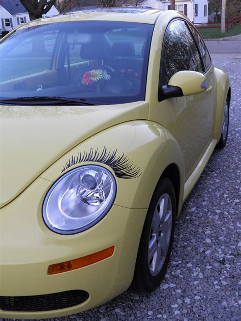 punch buggy car drawing punch buggy car with eyelashes