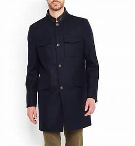 Manteau Mi Long Homme : manteau mi long en laine et col officier en cuir the ~ Melissatoandfro.com Idées de Décoration