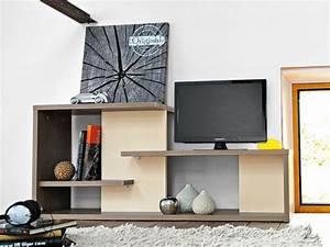 Meuble Tv Avec Etagere : tweed meuble tv by gautier france ~ Teatrodelosmanantiales.com Idées de Décoration