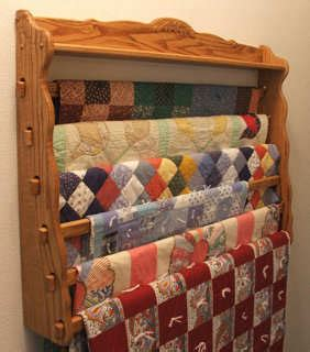 quilt rack wall plans diy   build  simple