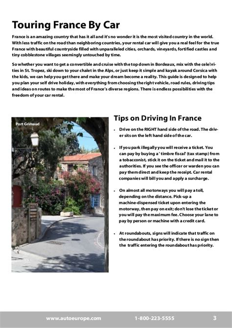 travel bureau car auto europe travel driving guide free