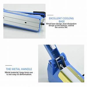 New 220v 50  60hz Impulse Manual Hand Heat Sealer 8 Levels