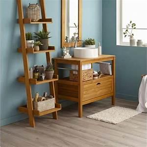 meuble salle de bain et vasque leroy merlin With salle de bain design avec meuble bois salle de bain