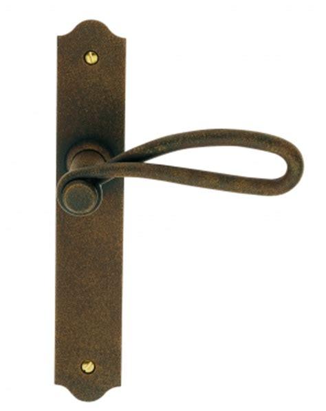 poign 233 e de porte int 233 rieure rustique en fer forg 233 imitation rouille sur plaque bec de