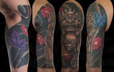 foo dog  sleeve tattoo steemkr