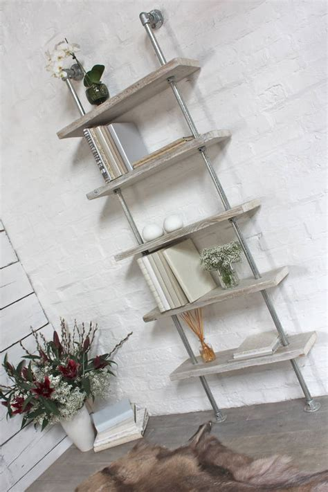 robyn white washed wood  steel bookcase  urban grain