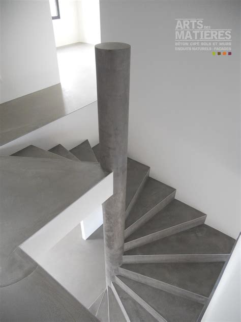 escalier en b 233 ton cir 233 b 233 ton cir 233 enduits d 233 coratifs naturels by arts des mati 232 res