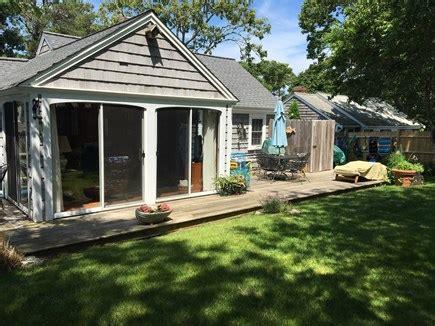 dennis port cape vacation rental fenced backyard outdoor