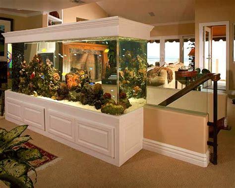 cuisine ouverte avec bar la décoration avec un meuble aquarium archzine fr