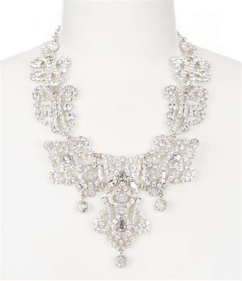 natasha accessories crystal drop statement necklace dillards