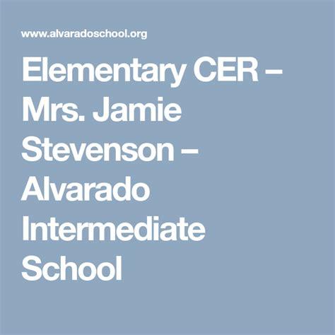 Elementary CER Mrs Jamie Stevenson Alvarado
