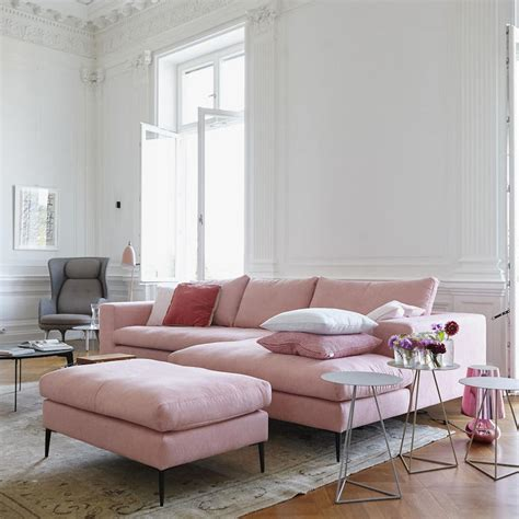 16 Ultra Chic Blush Pink Sofas & How To Style Them