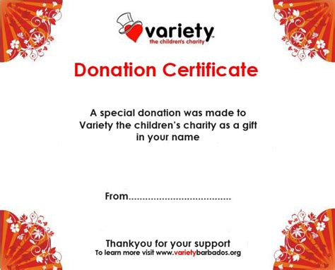 Corporate Charity Donation Card Template by Charity Voucher Templates Company Documents