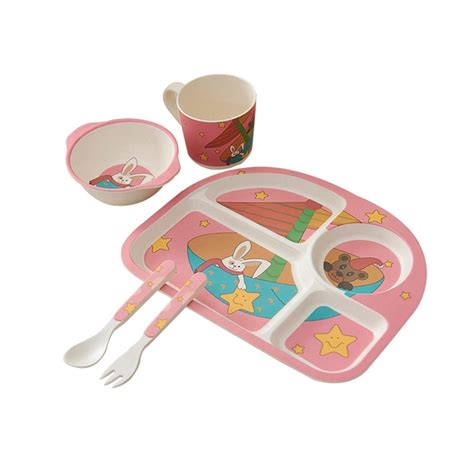 feeding cutlery selling dishes baby bowl printed plate food children container tableware animal divided cup plates dhgate sc st kid