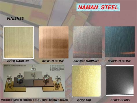 stainless steel sheets  metal colors  gold brass rose coppe