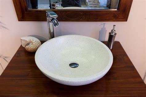 vasque terrazzo ronde cr 232 me meubles salle de bain en teck meubles en teck