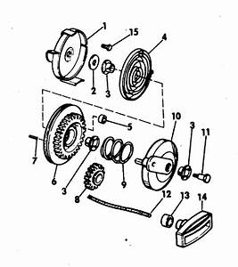 Evinrude Rewind Starter Parts For 1971 4hp 4106d Outboard
