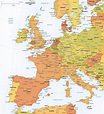 Vector Map of Western Europe Political   One Stop Map