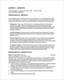 Resume For Mba Admission by Mba Resume Template 11 Free Sles Exles Format