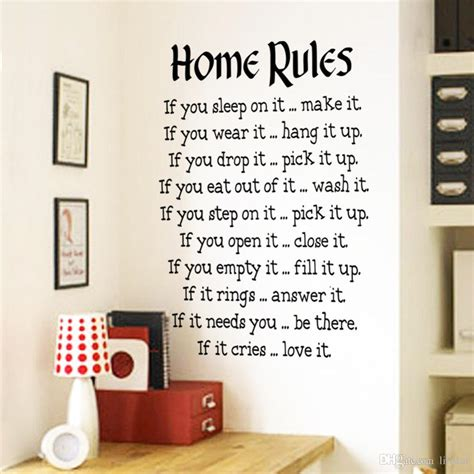 Home Rules Wall Sticker Quotes Home Decor Vinyl Art Decals Sticker Home Decoration Waterproof