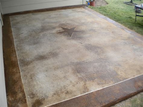 stained concrete patio design ideas landscaping
