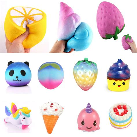 lot jumbo squishy soft rising squeeze toy pressure relief toys ebay