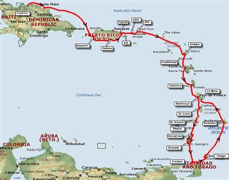 caribbean cruise destinations map detland com