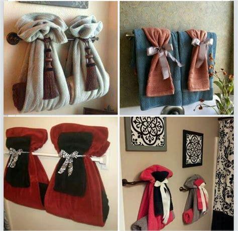 ways  hang bathroom towels bathroom ideas