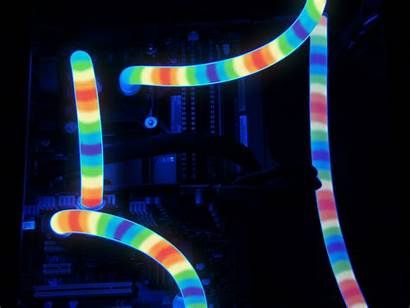 Pc Cooling Liquid Rainbow Gold Custom Comes