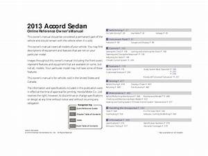 2013 Honda Accord Sedan Owners Manual