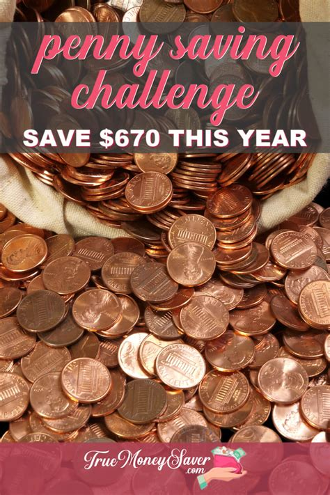 start  penny challenge  save  money  year