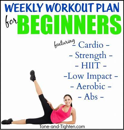 Workout Plan Weekly Beginner Workouts Tone Tighten
