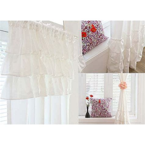white ruffle blackout curtains 96 white ruffle curtain