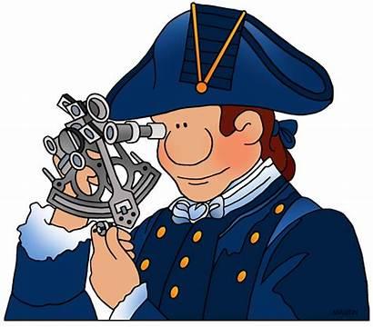Cook Clipart Captain Sextant Explorers Clip James