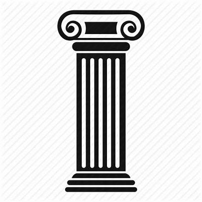 Roman Column Icon Columns Building Architecture Drawing